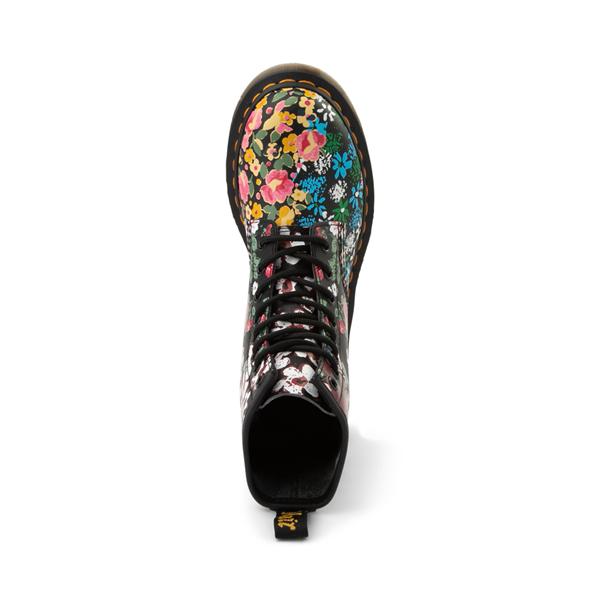 alternate view Womens Dr. Martens 1460 8-Eye Boot - Black / Floral MashupALT2
