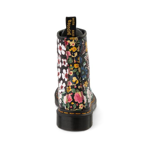 alternate view Womens Dr. Martens 1460 8-Eye Boot - Black / Floral MashupALT4