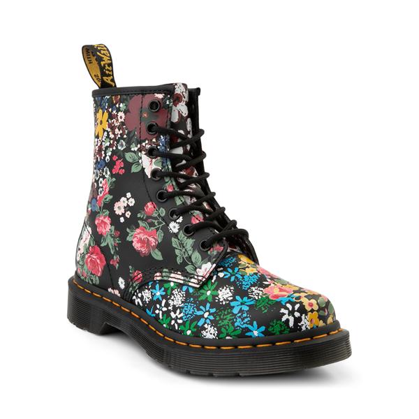 alternate view Womens Dr. Martens 1460 8-Eye Boot - Black / Floral MashupALT5