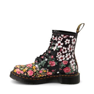 Alternate view of Womens Dr. Martens 1460 8-Eye Boot - Black / Floral Mashup