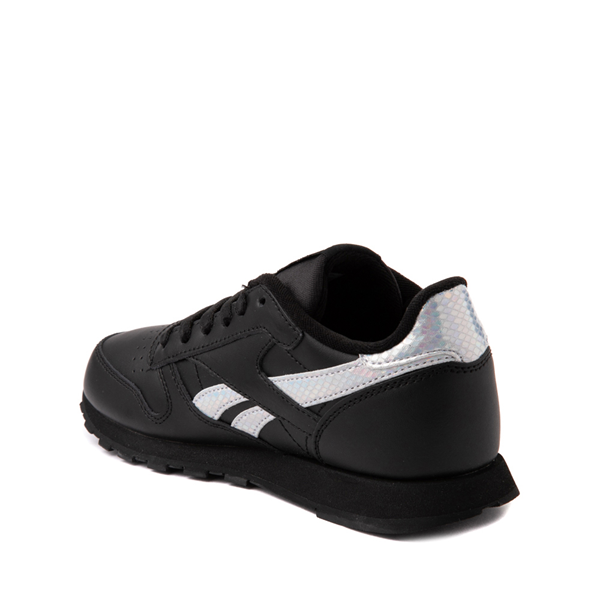 alternate view Reebok Classic Athletic Shoe - Big Kid - Black / IridescentALT1