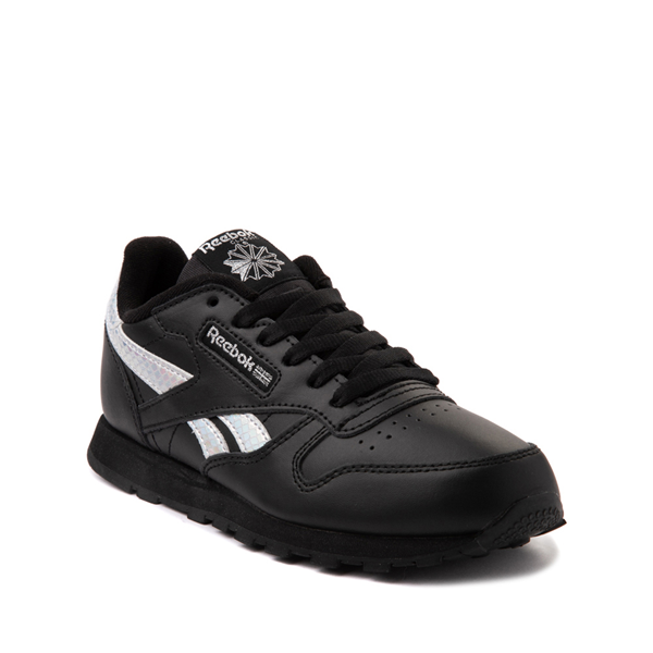 alternate view Reebok Classic Athletic Shoe - Big Kid - Black / IridescentALT5