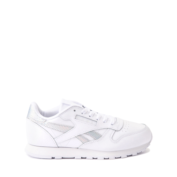 Main view of Reebok Classic Athletic Shoe - Big Kid - White / Iridescent