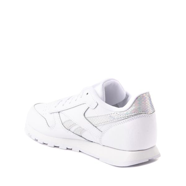 alternate view Reebok Classic Athletic Shoe - Big Kid - White / IridescentALT1