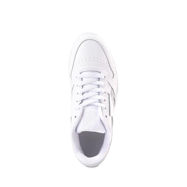 alternate view Reebok Classic Athletic Shoe - Big Kid - White / IridescentALT2