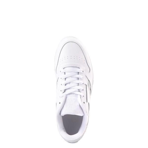 alternate view Reebok Classic Athletic Shoe - Big Kid - White / IridescentALT4B