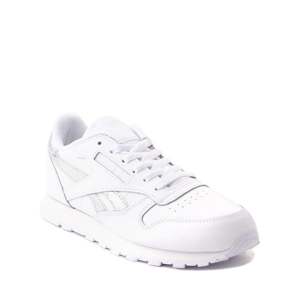 alternate view Reebok Classic Athletic Shoe - Big Kid - White / IridescentALT5
