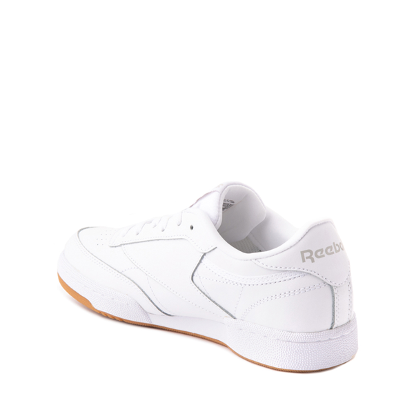 alternate view Reebok Club C Athletic Shoe - Big Kid - White / GumALT1