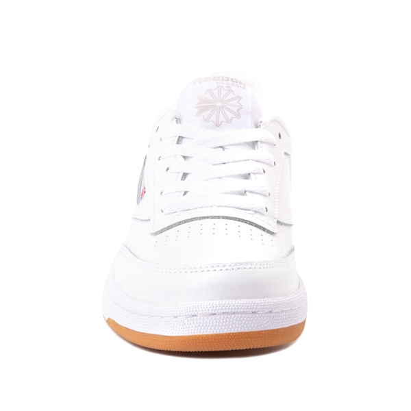 alternate view Reebok Club C Athletic Shoe - Big Kid - White / GumALT4