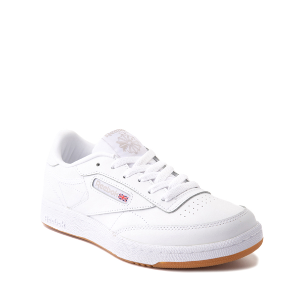 alternate view Reebok Club C Athletic Shoe - Big Kid - White / GumALT5