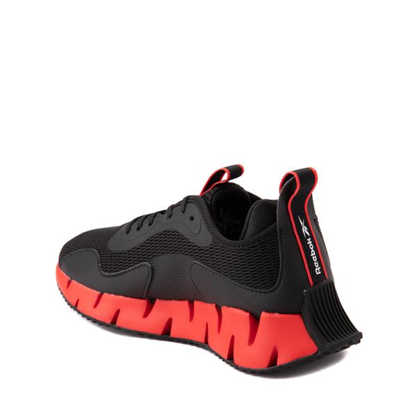 alternate view Reebok Zig Dynamica Athletic Shoe - Big Kid - Black / Instinct RedALT1