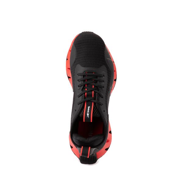 alternate view Reebok Zig Dynamica Athletic Shoe - Big Kid - Black / Instinct RedALT2