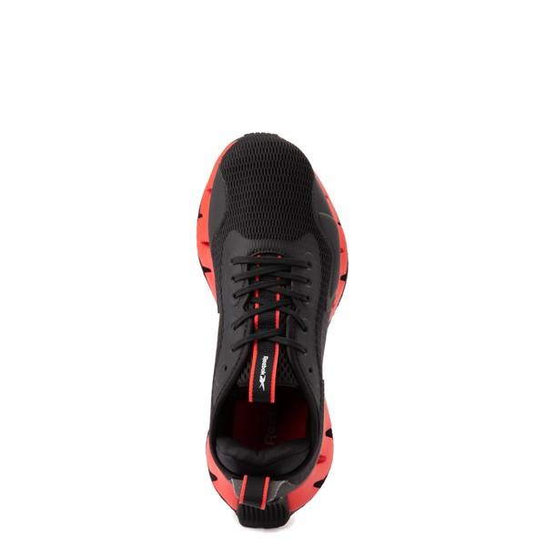 alternate view Reebok Zig Dynamica Athletic Shoe - Big Kid - Black / Instinct RedALT4B