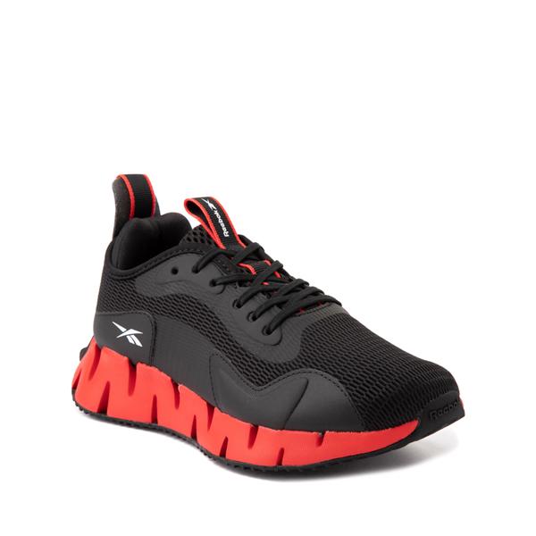 alternate view Reebok Zig Dynamica Athletic Shoe - Big Kid - Black / Instinct RedALT5