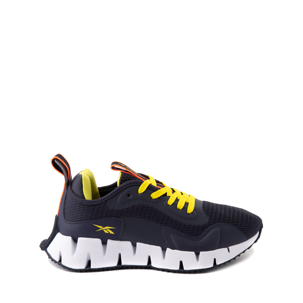 Main view of Reebok Zig Dynamica Athletic Shoe - Big Kid - Power Navy / Bright Yellow
