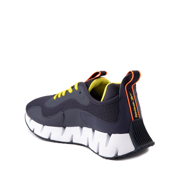 alternate view Reebok Zig Dynamica Athletic Shoe - Big Kid - Power Navy / Bright YellowALT1