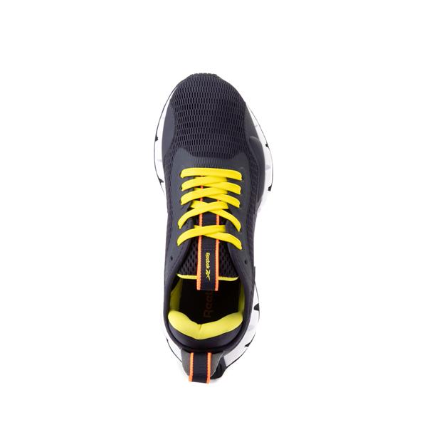alternate view Reebok Zig Dynamica Athletic Shoe - Big Kid - Power Navy / Bright YellowALT2
