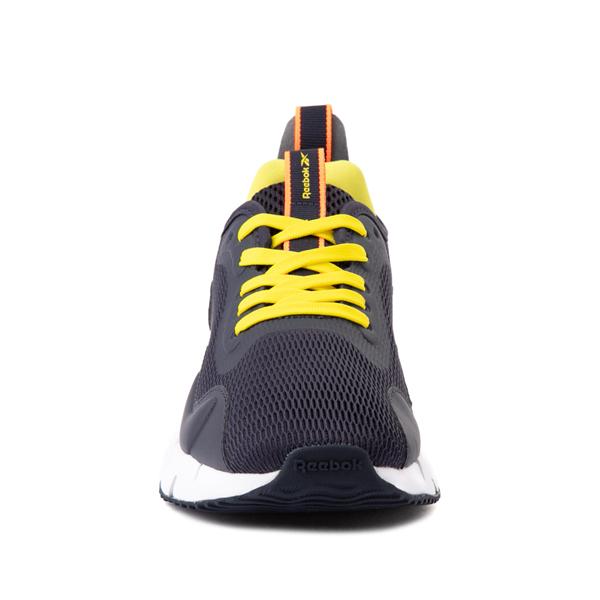 alternate view Reebok Zig Dynamica Athletic Shoe - Big Kid - Power Navy / Bright YellowALT4