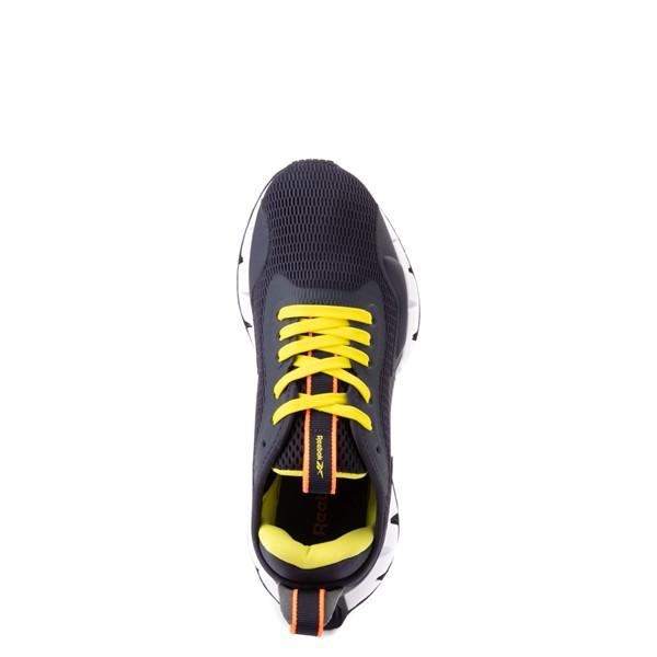 alternate view Reebok Zig Dynamica Athletic Shoe - Big Kid - Power Navy / Bright YellowALT4B