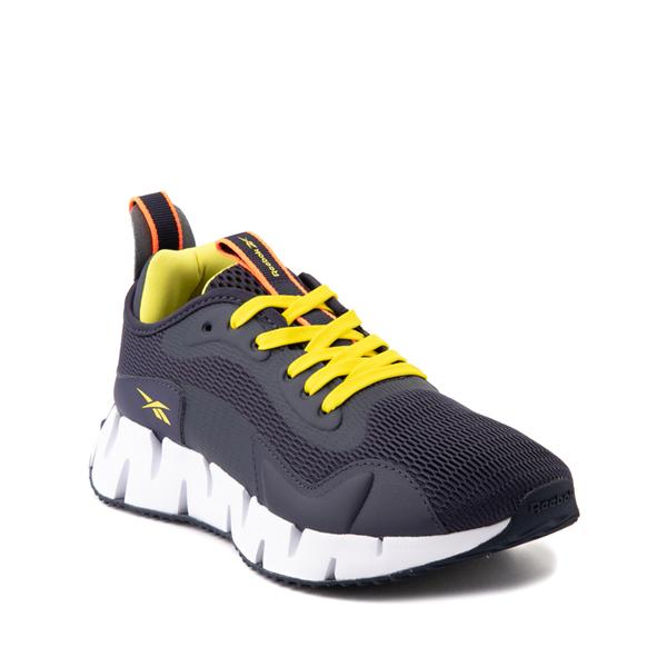 alternate view Reebok Zig Dynamica Athletic Shoe - Big Kid - Power Navy / Bright YellowALT5