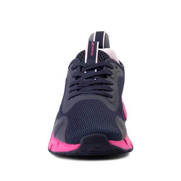 alternate view Reebok Zig Dynamica Athletic Shoe - Big Kid - Vector Navy / Proud PinkALT4