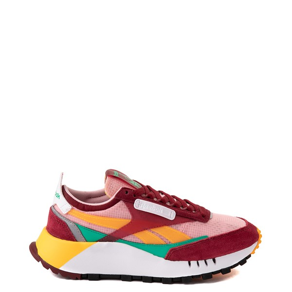 Main view of Womens Reebok Classic Legacy Athletic Shoe - Collegiate Burgundy / Court Green / Solar Gold