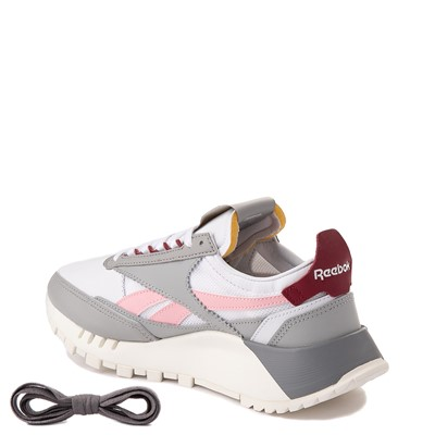 Alternate view of Womens Reebok Classic Legacy Athletic Shoe - Stark Gray / White / Maroon