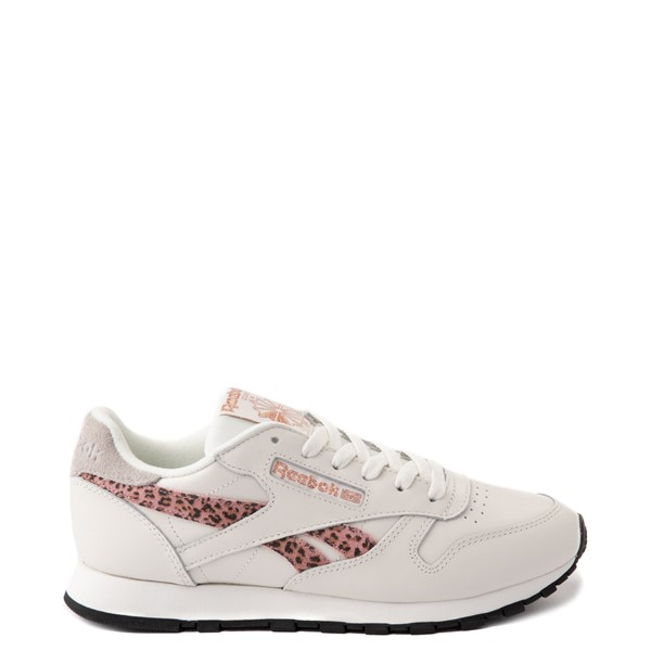 Womens Reebok Classic Athletic Shoe - Chalk / Leopard / Rose Gold
