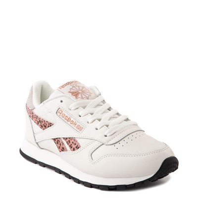 Alternate view of Womens Reebok Classic Athletic Shoe - Chalk / Leopard / Rose Gold