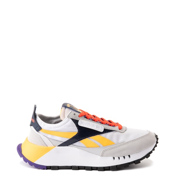 Main view of Womens Reebok Classic Legacy Athletic Shoe - Snowy Gray / Solar Gold / Ultra Violet