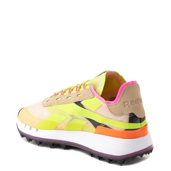 alternate view Womens Reebok Classic Legacy 83 Athletic Shoe - Alabaster / Utility Yellow / Solar OrangeALT1