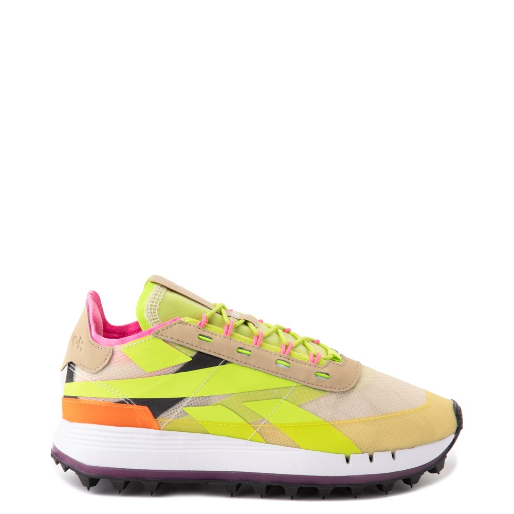 Womens Reebok Classic Legacy 83 Athletic Shoe - Alabaster / Utility Yellow / Solar Orange