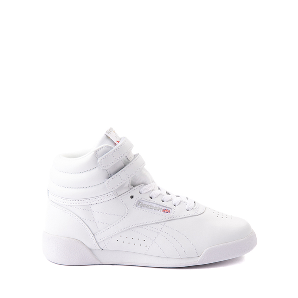 Main view of Reebok Freestyle Hi Athletic Shoe - Little Kid - White
