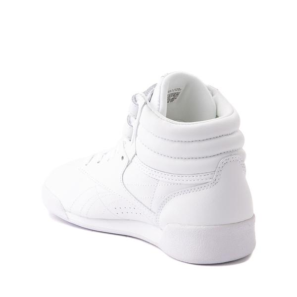 alternate view Reebok Freestyle Hi Athletic Shoe - Little Kid - WhiteALT1
