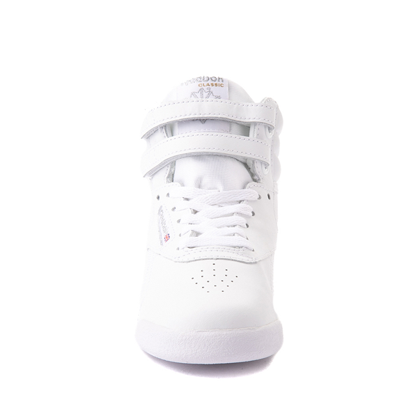 alternate view Reebok Freestyle Hi Athletic Shoe - Little Kid - WhiteALT4