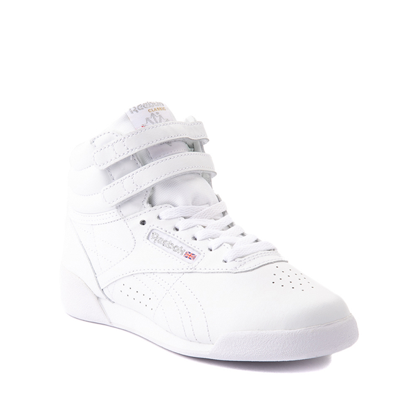 alternate view Reebok Freestyle Hi Athletic Shoe - Little Kid - WhiteALT5