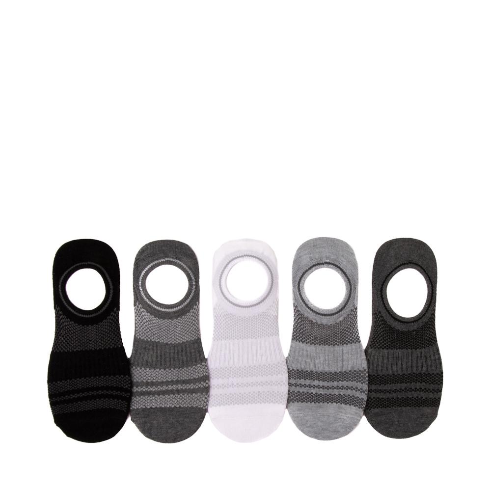 Womens Mesh Liners 5 Pack - Black / White / Gray