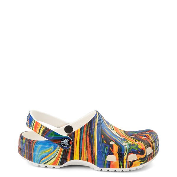 Crocs Classic Clog - White / Cobalt / Marbled Multicolor