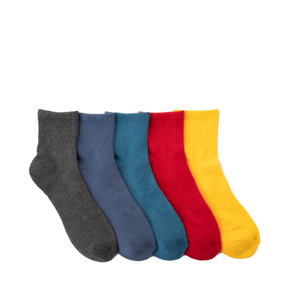 Mens Color Cushion Quarter Socks 3 Pack - Multicolor