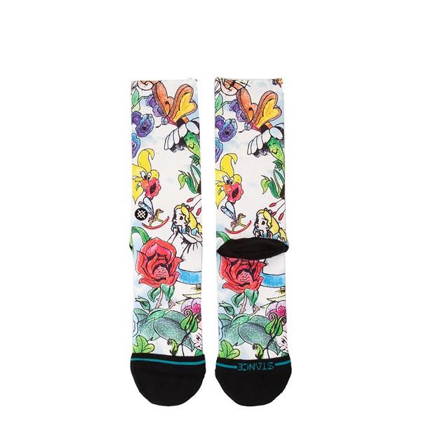 alternate view Mens Stance Alice In Wonderland Crew Socks - MulticolorALT1