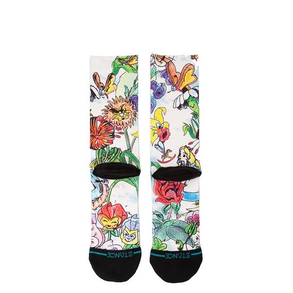 alternate view Mens Stance Alice In Wonderland Crew Socks - MulticolorALT2
