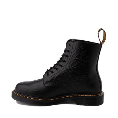 Alternate view of Dr. Martens 1460 8-Eye Flame Boot - Black