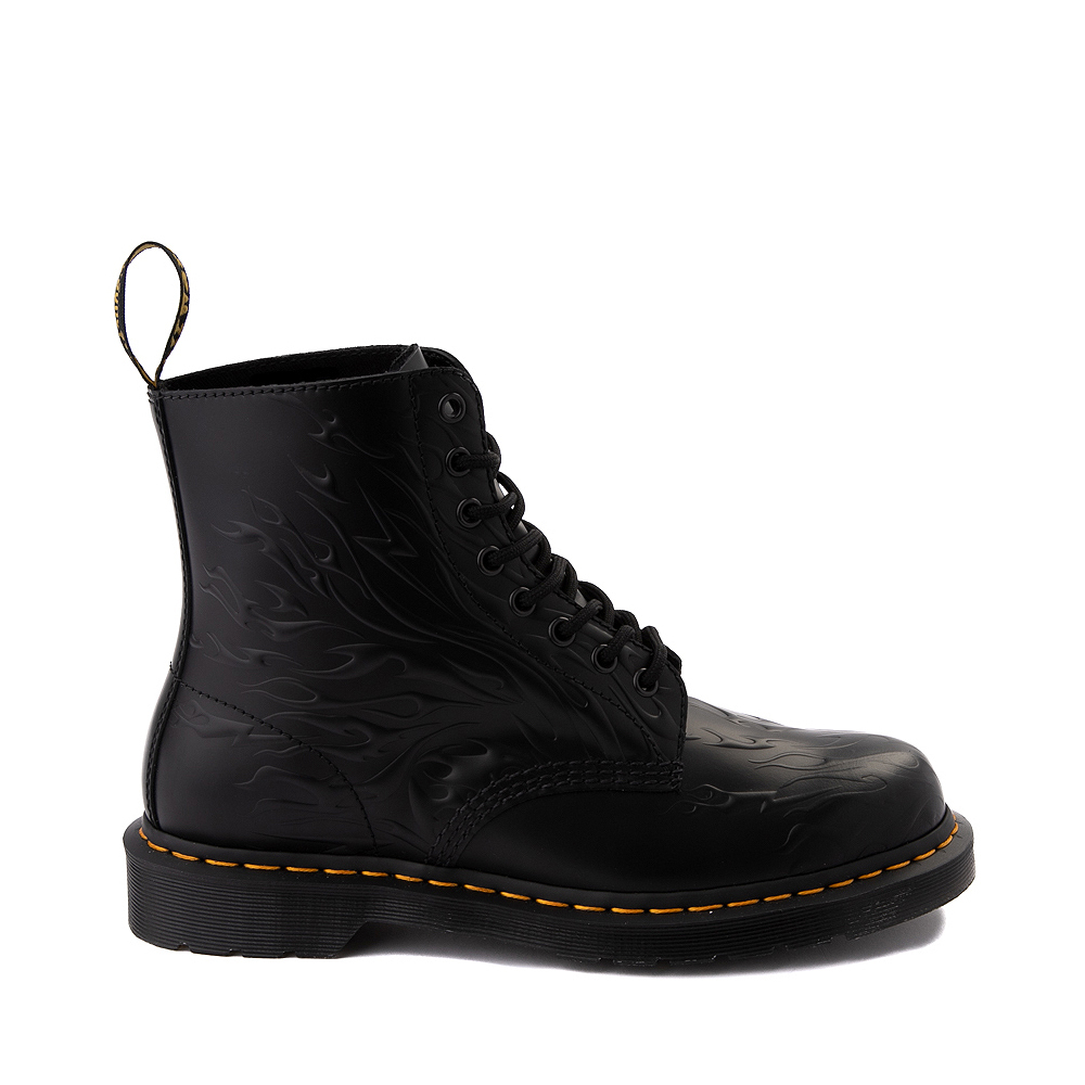 Dr. Martens 1460 8-Eye Flame Boot - Black