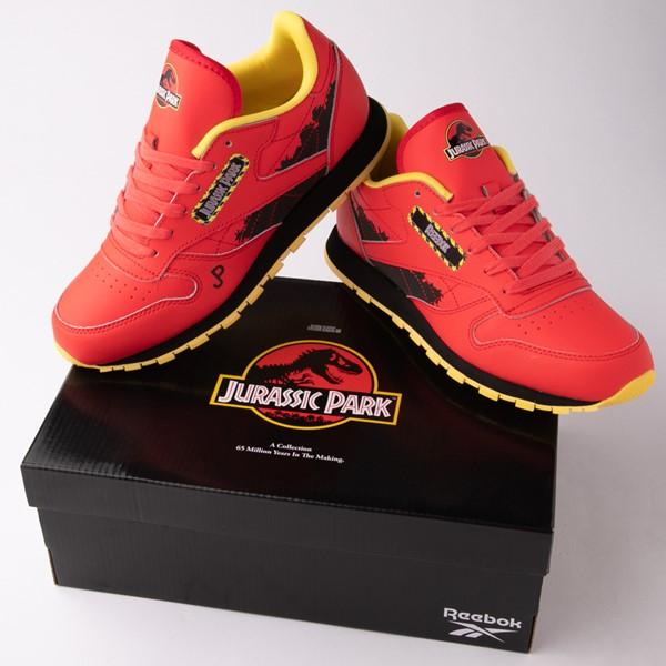 alternate view Reebok x Jurassic Park Classic Leather Athletic Shoe - Big Kid - RedALT1C