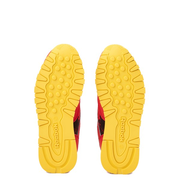 alternate view Reebok x Jurassic Park Classic Leather Athletic Shoe - Big Kid - RedALT3
