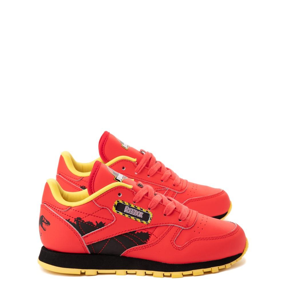 Reebok x Jurassic Park Classic Leather Athletic Shoe - Big Kid - Red