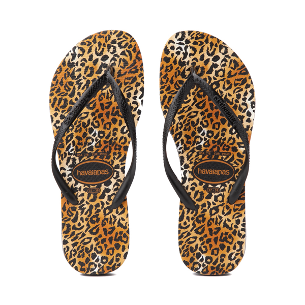 Main view of Womens Havaianas Slim Sandal - Leopard