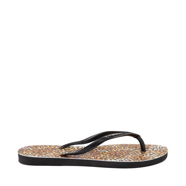 alternate view Womens Havaianas Slim Sandal - LeopardALT1
