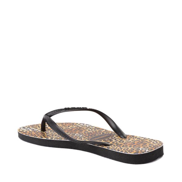 alternate view Womens Havaianas Slim Sandal - LeopardALT1B