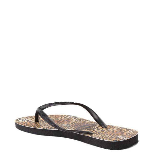 alternate view Womens Havaianas Slim Sandal - LeopardALT2